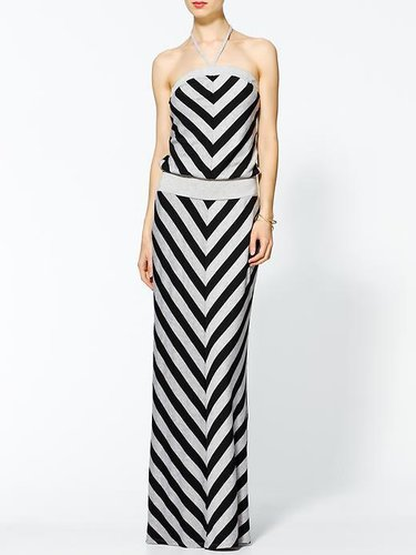 Hive & Honey Chevron Striped Maxi Dress
