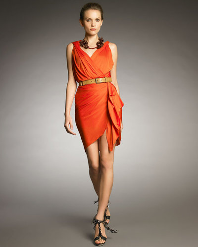 Lanvin Draped Faux-Wrap Dress