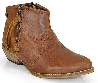 Steve Madden - Noww - Cognac Leather Ankle Bootie