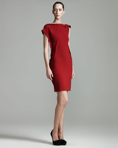Lanvin Ruffled Sheath Dress