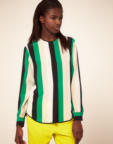 MSGM Multi Colour Stripe Shirt