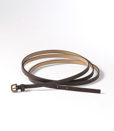 Slim double wrap belt