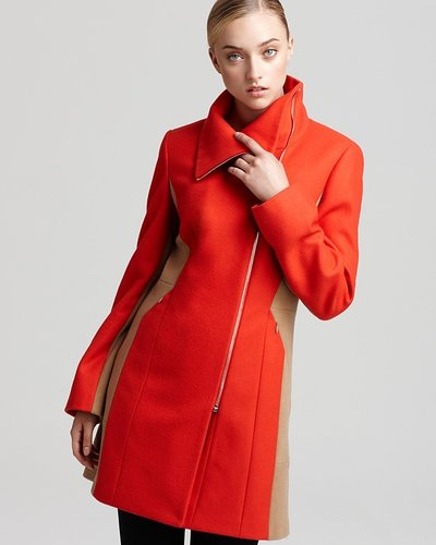 Calvin Klein Color Blocked Coat