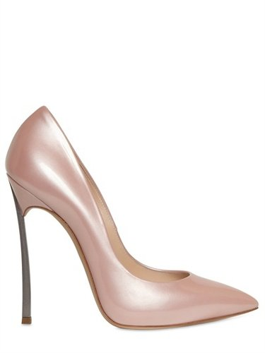 Casadei - 110mm Shiny Patent Blade Heel Pumps