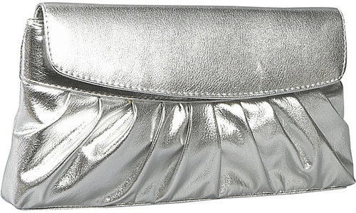 Coloriffics Handbags Pleated Smooth Metallic Evening Bag