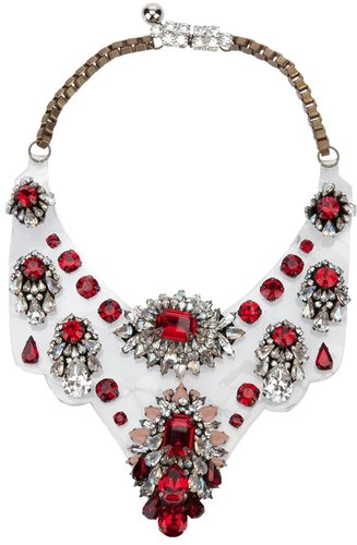 Shourouk floral glass choker