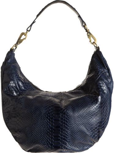 Jas MB Python-Stamped Sling Hobo Bag