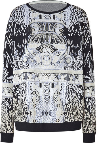 Mary Katrantzou Precious Metal Pattern Oversized Pullover
