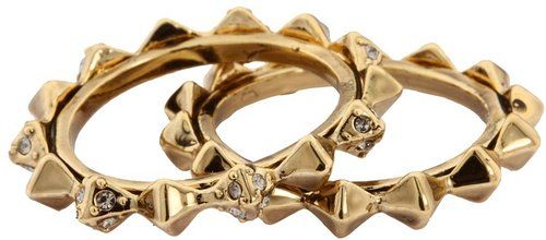 House of Harlow 1960 - Spike Stack Ring Set in Gold