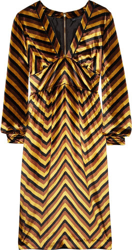 Marc by Marc Jacobs Jagz chevron-print velvet dress