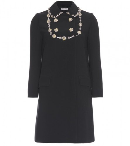 Miu Miu CRYSTAL EMBELLISHED COAT