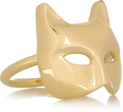 Anita Ko Cat Mask 18-karat gold ring