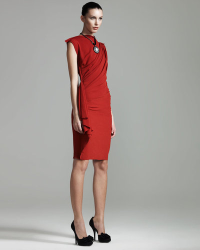Lanvin Draped Sheath Dress