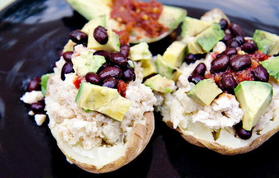 Simple Mexican Stuffed Baked Potatoes