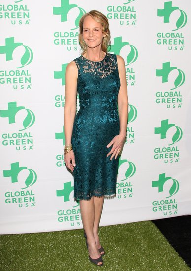 Helen Hunt went for a green dress.