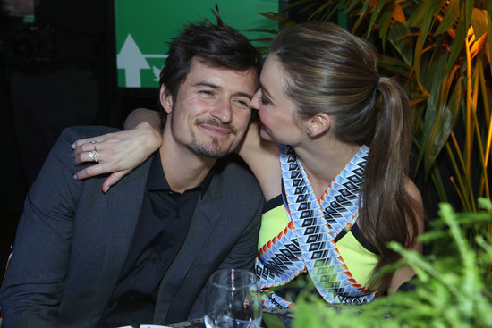 Miranda Kerr and Orlando Bloom cuddled at a pre-Oscars party in LA on February 2013.