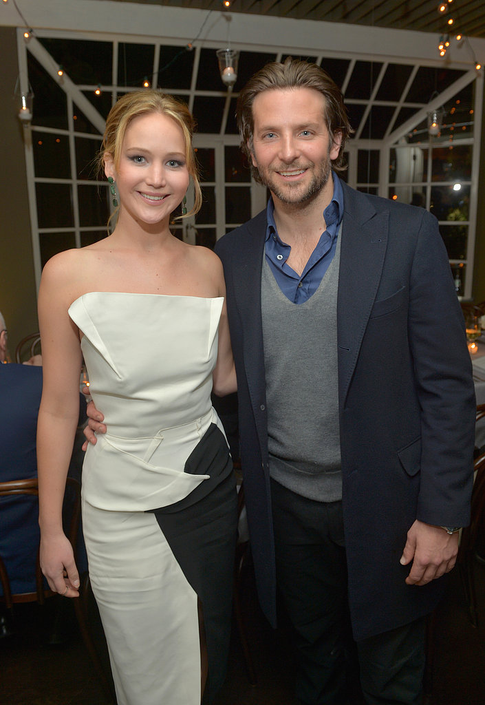 Jennifer Lawrence and Bradley Cooper attended a Vanity Fair celebration together to celebrate their film Silver Linings Playbook ahead of Sunday's Oscars.