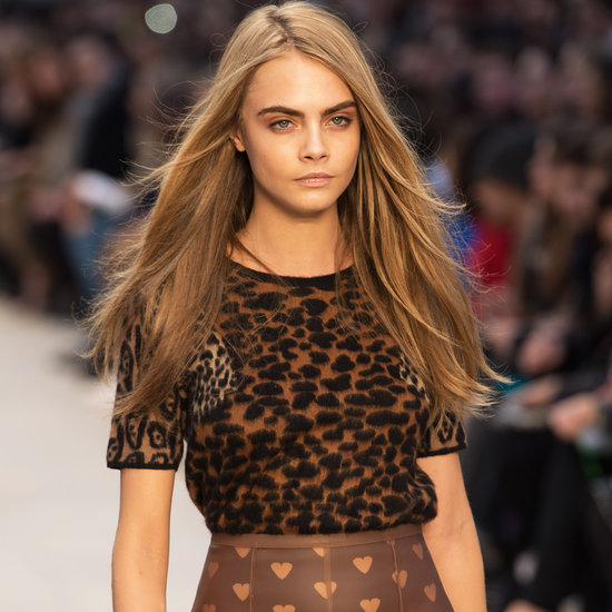 Cara Delevigne Looks Delighted To Be in Heart Knickers