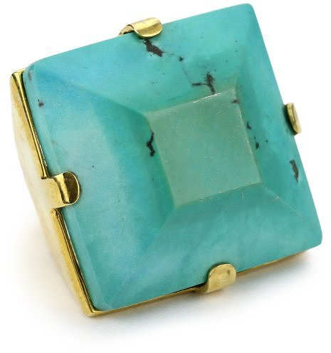 Charmed Circle Turquoise Square Cocktail Ring