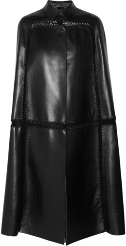 Valentino Paneled leather cape