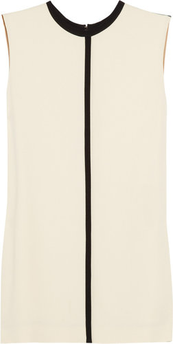 Chloé Contrast-piping crepe top