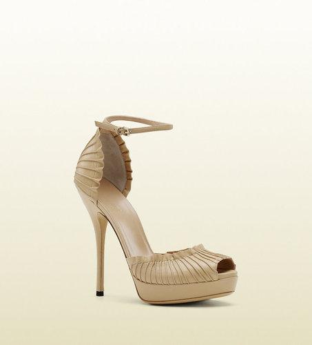 'taryn' High Heel Platform Sandal With Ankle Strap.