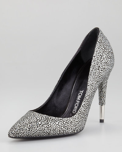 Tom Ford Crystal Embellished Pointed-Toe Pump