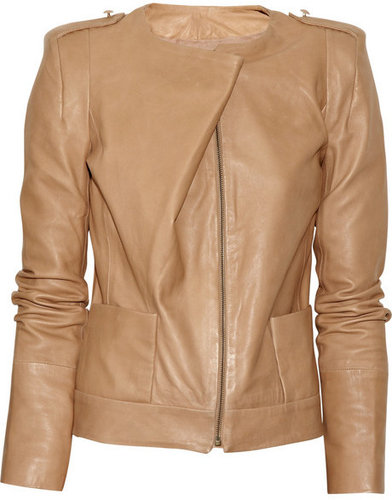 Vanessa Bruno Folded glazed-leather jacket