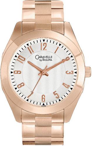 Caravelle by Bulova Watch, Women's Rose Gold Tone Bracelet 36mm 44L106