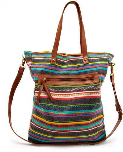 Multi Stripe Canvas Tote