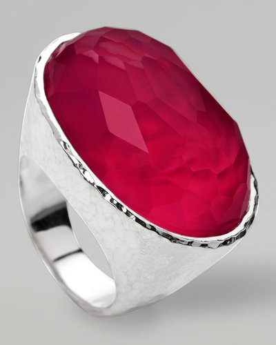 Ippolita Wonderland Oval Ring, Raspberry