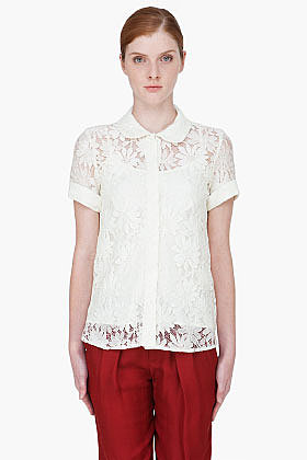 MARC BY MARC JACOBS Ivory Lily Lace Blouse