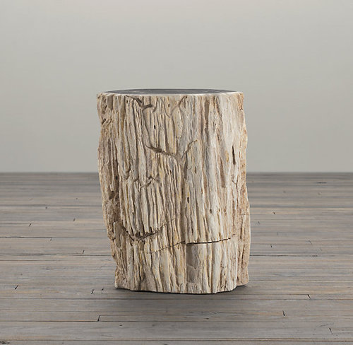 Petrified Wood Side Table Mixed