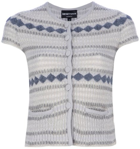Emporio Armani Knit capped sleeve top