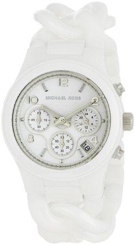 Michael Kors Women's MK5387 Ceramic Classic Chronograph White Watch