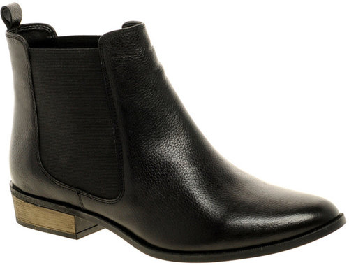ASOS ADELAIDE Leather Chelsea Ankle Boots With Pointed Toe