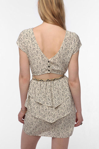Coincidence & Chance Open-Back Peplum Dress