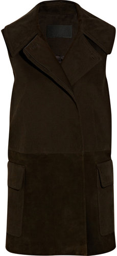 Alexander Wang Sleeveless cotton and suede jacket