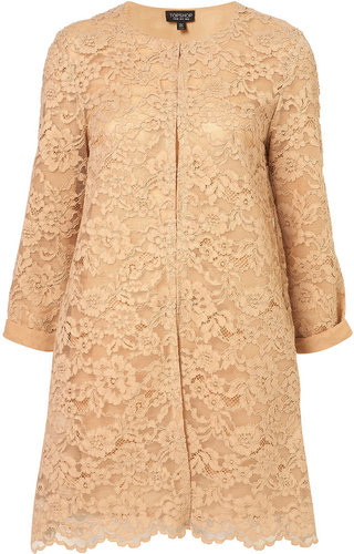 Scalloped Hem Lace Coat