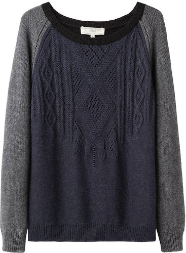 Vanessa Bruno Athé / Two-Tone Cable Knit