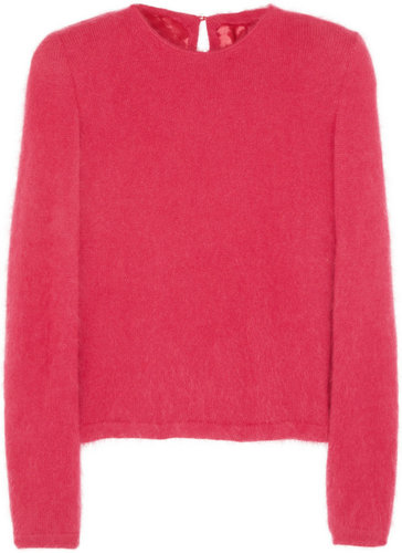 Maison Martin Margiela Exaggerated shoulder angora-blend sweater