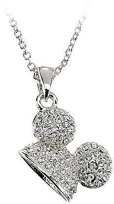 Pavé Crystal Mickey Mouse Ears Necklace by Disney Couture