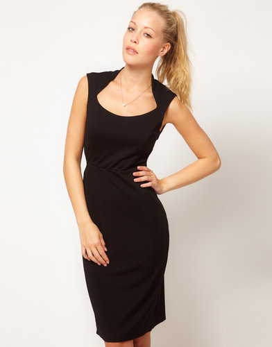 Glamorous Open Neck Pencil Dress