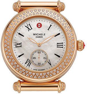 MICHELE 'Caber' Diamond Rose Gold Watch Case