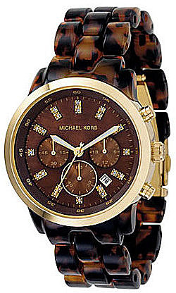 Michael Kors Oversized Chocolate-Dial Chronograph Watch