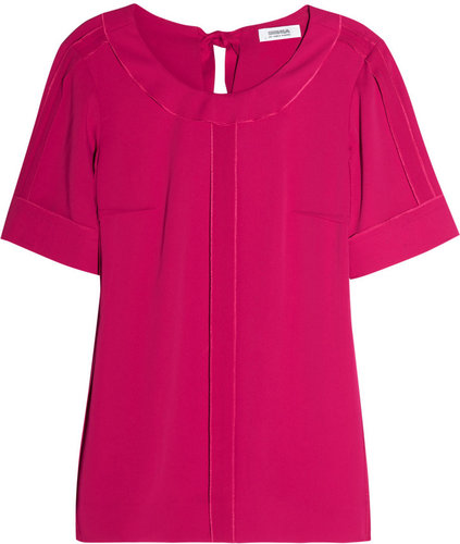 Sonia by Sonia Rykiel Exposed-seam crepe top