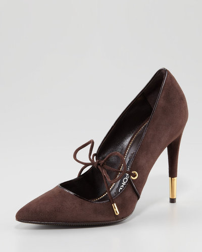 Tom Ford Tie-Front Suede Pump