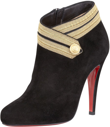 Christian Louboutin Marychal Suede Bootie