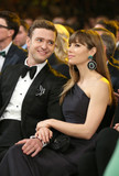 Justin Timberlake looked lovingly at wife Jessica Biel.