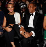 Beyoncé and Jay-Z laughed together during the show.